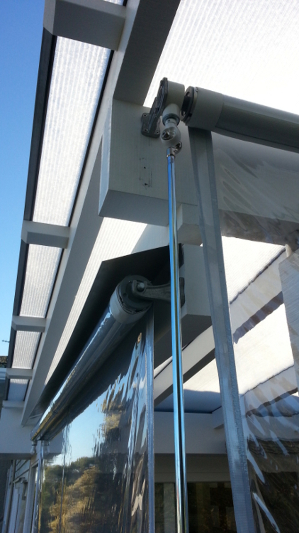 Crank rolled outdoor blinds image 10