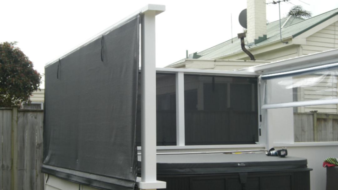 Hand Rolled Outdoor Blinds image 1