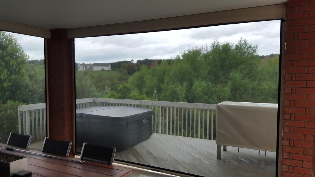 Spring loaded outdoor blinds image 4